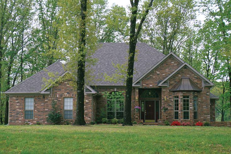 Beautiful Brick Exterior Plan 055D 0137