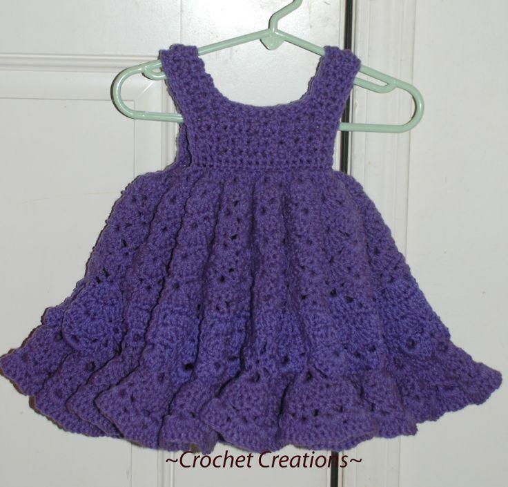 Free Pattern Crochet Newborn Dress : Crochet baby Dress Crochet Pinterest