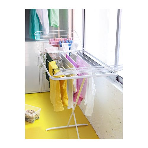 Mulig drying rack white - Laundry drying racks for small spaces property ...
