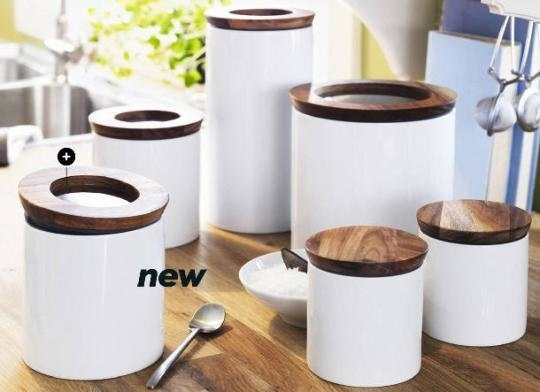 ikea storage canisters kitchen pinterest