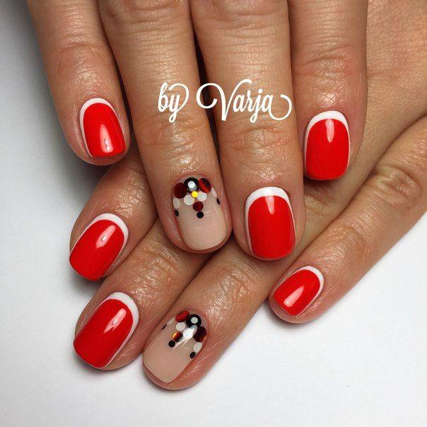 Дизайн с камифубиками на короткие ногти дизайн