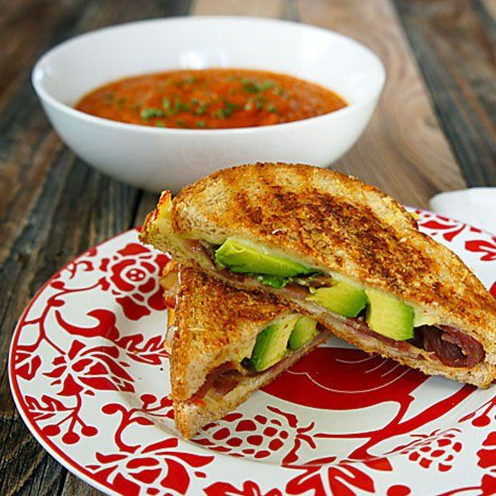 Dried Tomato Soup and an Avocado & Prosciutto Grilled Cheese Sandwich ...