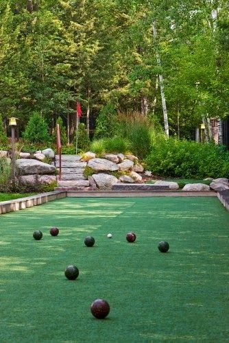 bocce ball court in the backyard yard garden pinterest