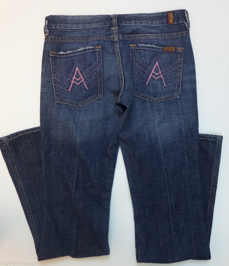 Seven 7 for All Mankind Woman Blue Jean Denim Pants Pocket A Pink 28