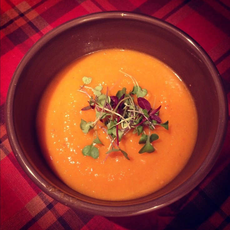 organic vegan roasted red pepper and garlic butternut squash soup