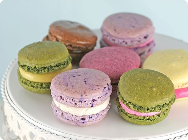 Violet Macarons With Violet And Vanilla Bean Buttercream Recipe ...