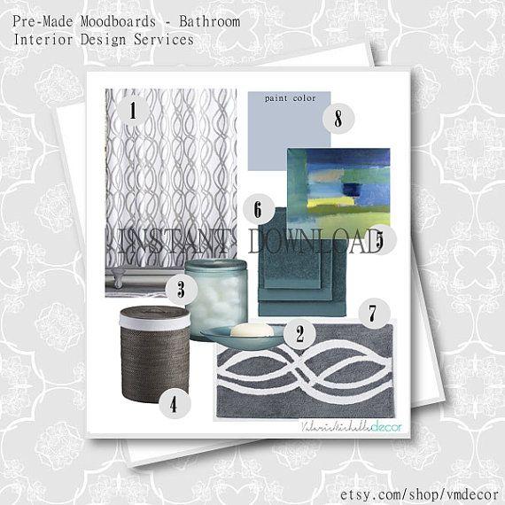 pre made unisex modern bathroom design