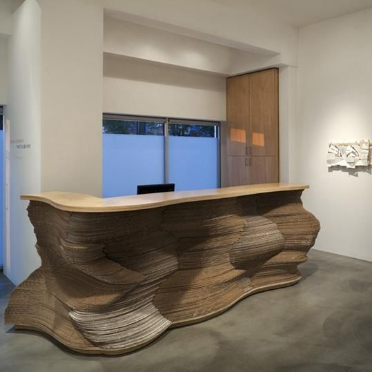Cardboard Interior Reception Desk Design Furniture Pinterest