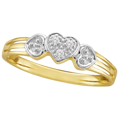 White And Yellow Gold Promise Rings