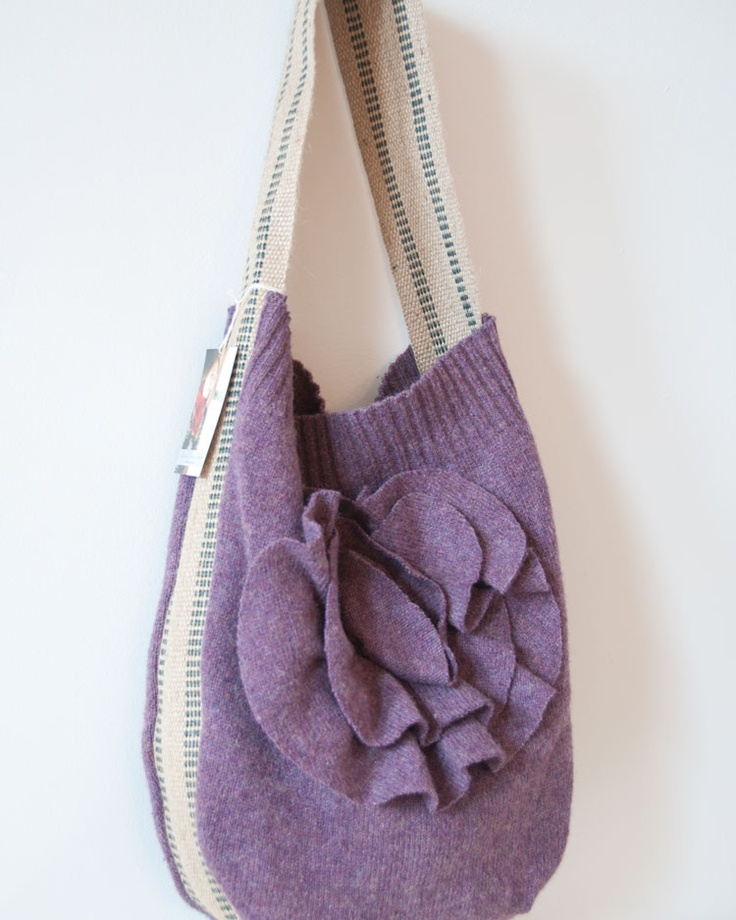 wool sweater purse