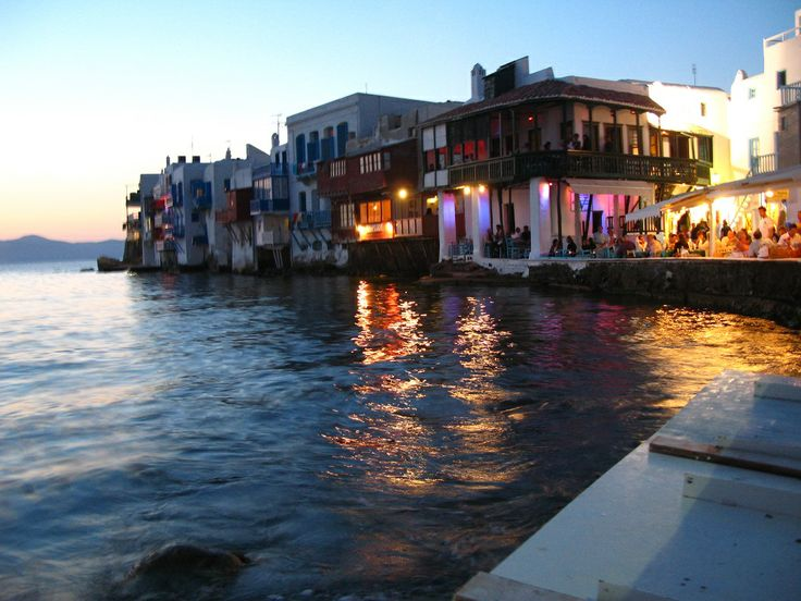 Every sunset, new magical moments... Little Venice, #Mykonos, #Greece