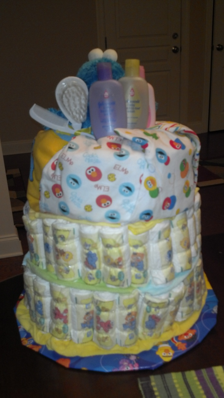 backside sesame street baby shower fun pinterest