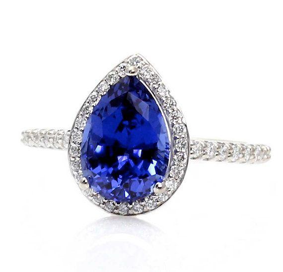 Blue Sapphire Engagement Ri