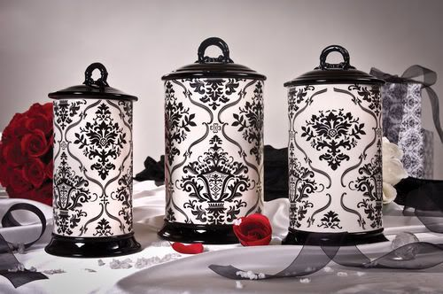 Tuscan Drake Design Studio Series Black And White Damask