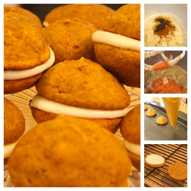 Mini Pumpkin Whoopie Pies with Maple Cream Cheese Frosting » The ...