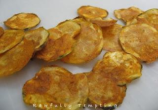 Spicy BBQ Zucchini Chips | Raw Energy | Pinterest