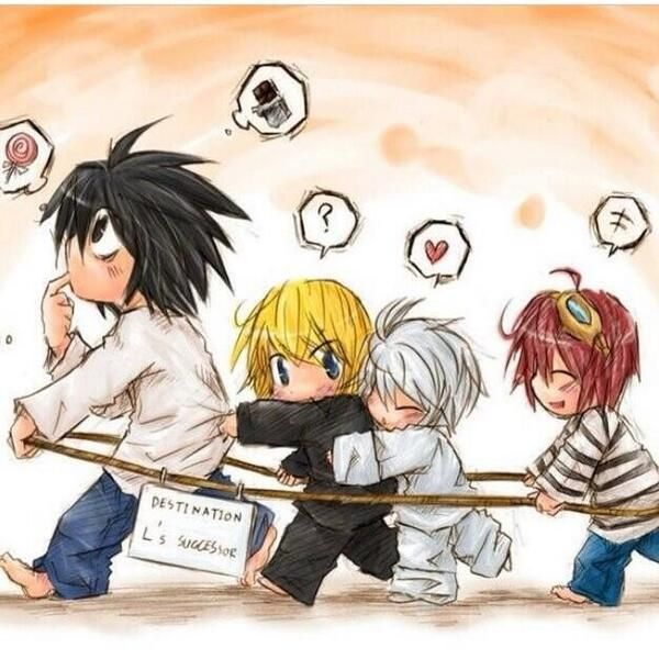 Chibi Near and Mello sleeping  My Death Note collection