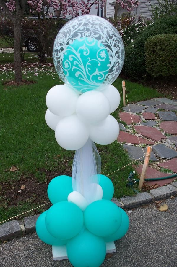 Balloon column balloon column balloon decor balloons for Baby shower decoration ideas with balloons
