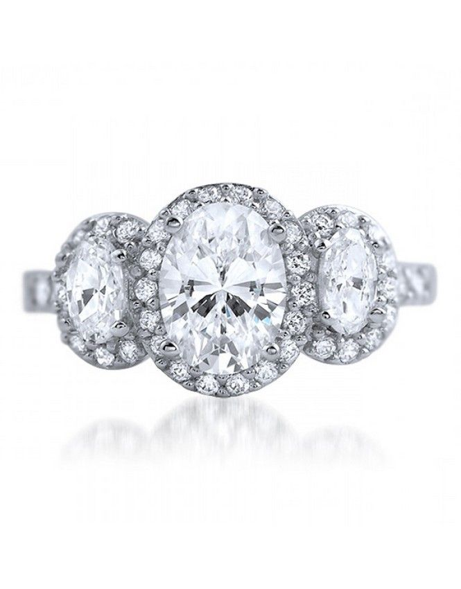 Oval Engagement Rings Three Stone This is Love