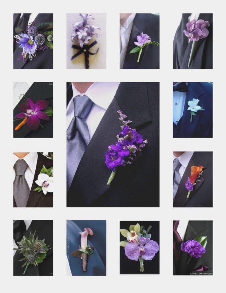 Purple Boutonniere Options