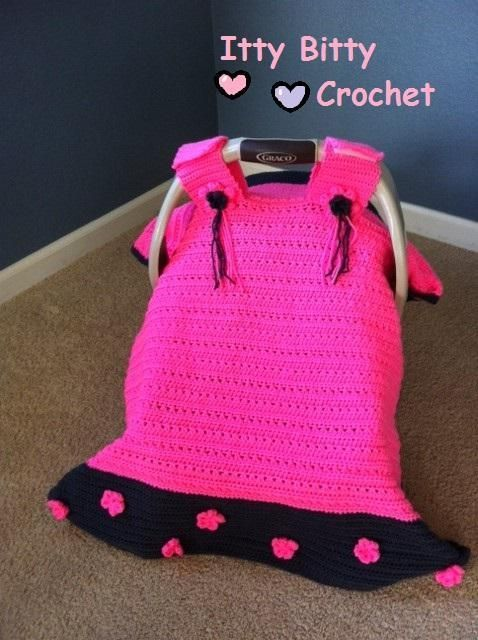 Car seat canopy Crochet Pinterest