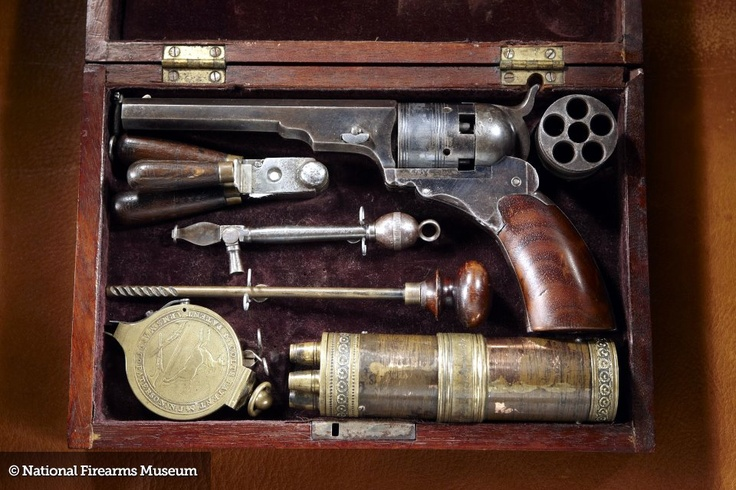 COLT BELT MODEL #2 PATERSON PERCUSSION REVOLVER: The Paterson is the first Colt and is widely regarded as the first successful revolver. Fewer than 3,000 were produced in several variations in the late 1830's, and surviving examples are prized by collectors and arms historians.