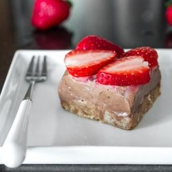 No Bake Chocolate Coconut Ice Cream Torte. Vegan, all-natural, and easily made gluten-free.