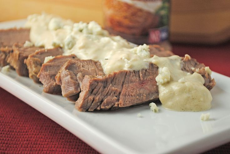 London Broil with Bleu Cheese Horseradish Sauce ~ A @NolanRyanBeef ...