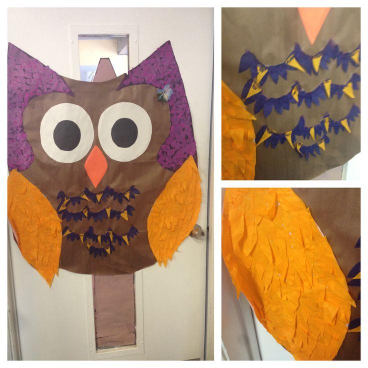Pre k owl door decoration when im a teacher pinterest
