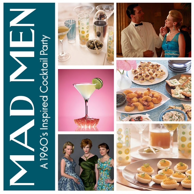 mad about {Mad Men} | 60's cocktail party | Pinterest