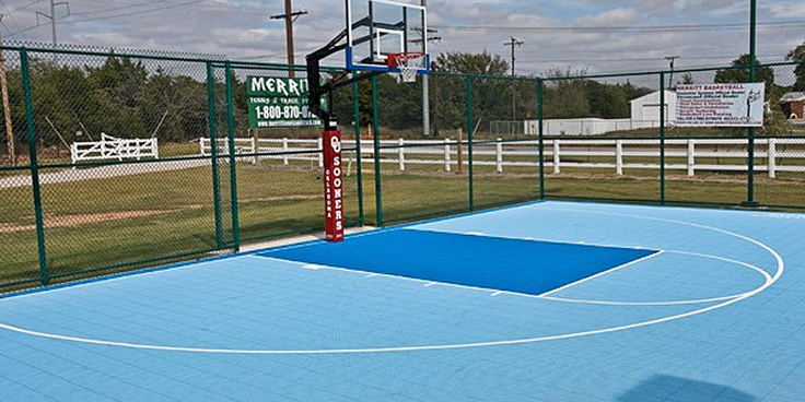Install Basketball Court In Backyard :  install a basketball, tennis, volleyball or multiuse court, it?s