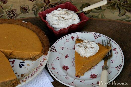 Pumpkin Icebox Pie #recipe | Desserts | Pinterest