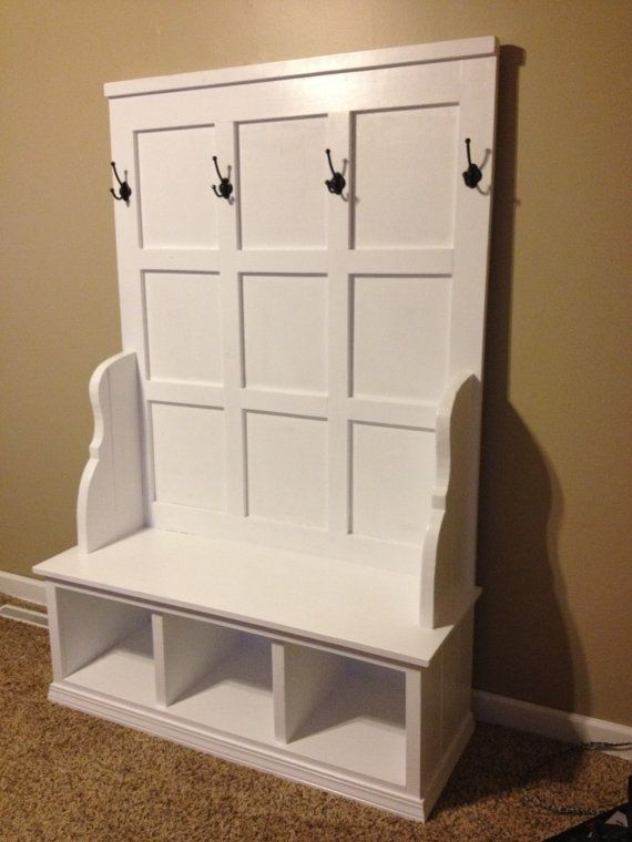 Custom Wood Cubby Bench For Mudroom Entryway Bench Or