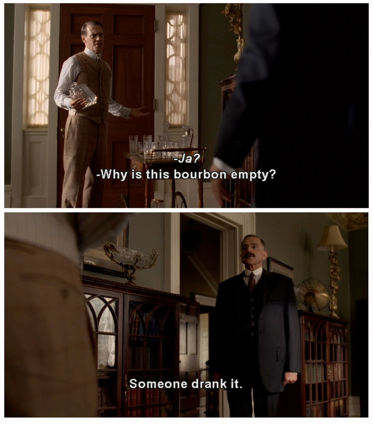 """A line right out of """"Mad Men"""", from """"Boardwalk Empire""""."""