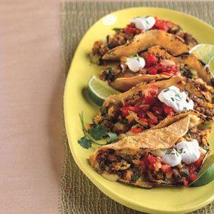 Chorizo and Scrambled Eggs Breakfast Taco