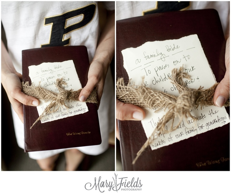 a family bible for the groom