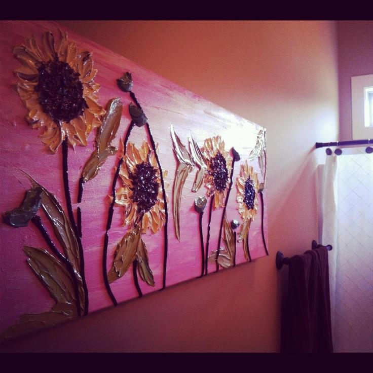 Acrylic Painting Large Wall Art Original Painting 16x40 Canvas Wall