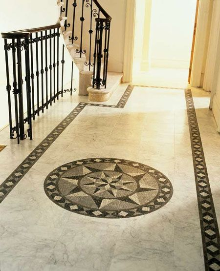 Entry with offset tile designs pinterest for Tile designs for entryways