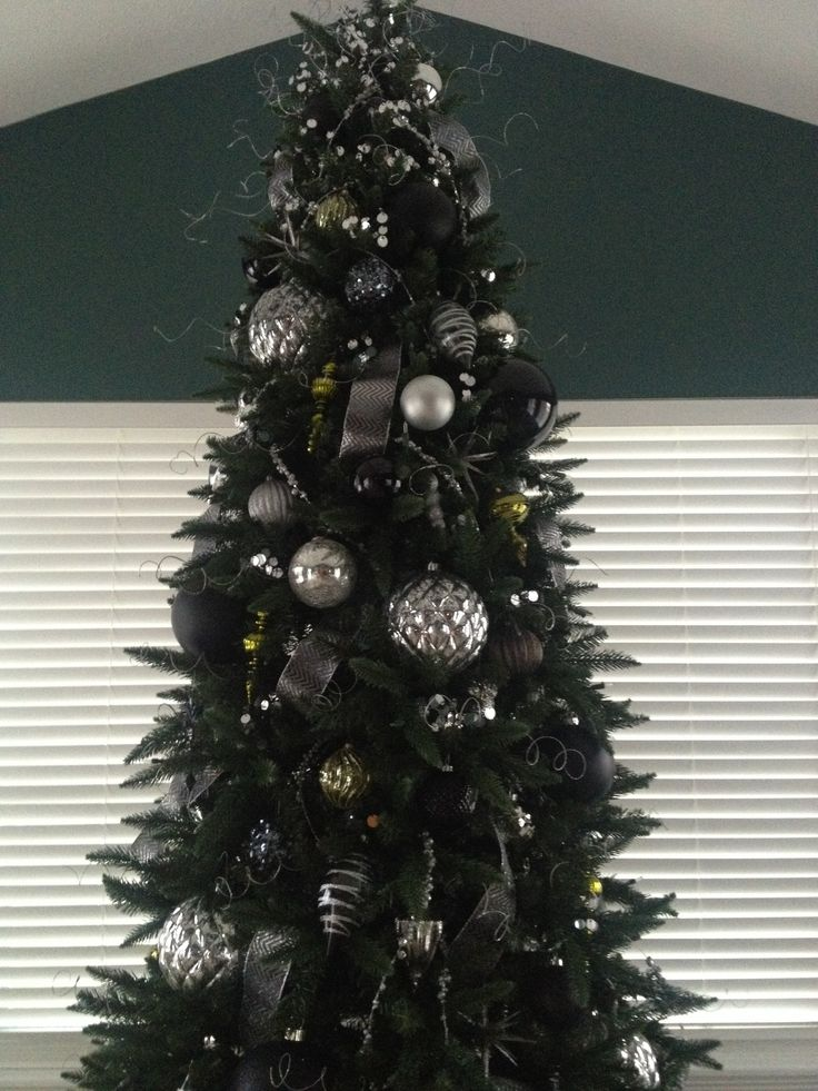 Black silver and green christmas tree christmas tree - Black and silver christmas ...
