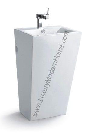 18 Inch Pedestal Sink : AURELIAN - 18