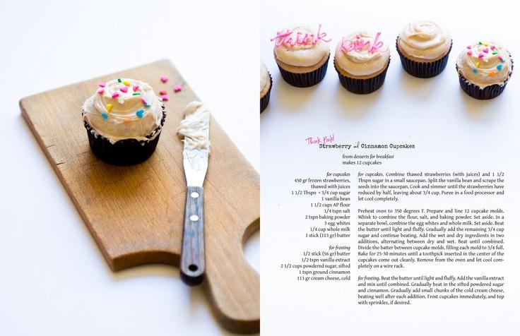 Strawberry & Cinnamon Cupcakes