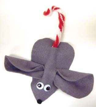 Candy cane mouse decoration gift holiday pinterest