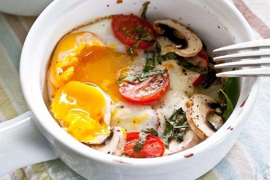 Version 2 of Caprese baked eggs