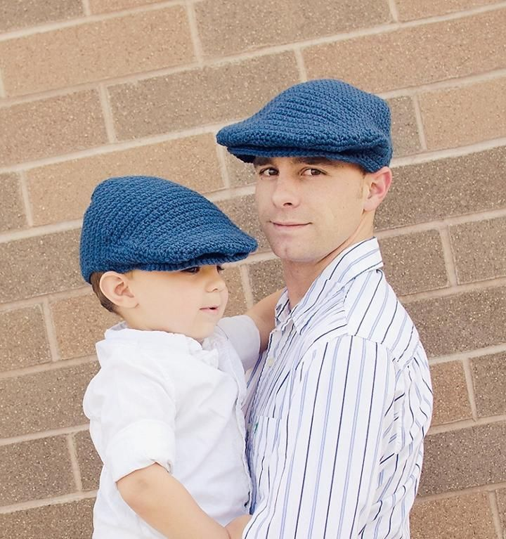 Seamus Scally Cap (Adult Sizes) Crochet Pattern by Injenuity. Makes a great Father's Day gift.  (Driver's cap, Golf cap, Flat cap, Newsboy, Newsie, Hat).