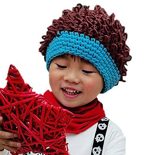 crochet - Fake Hair Beanie Hat - cute Mari Style Pinterest
