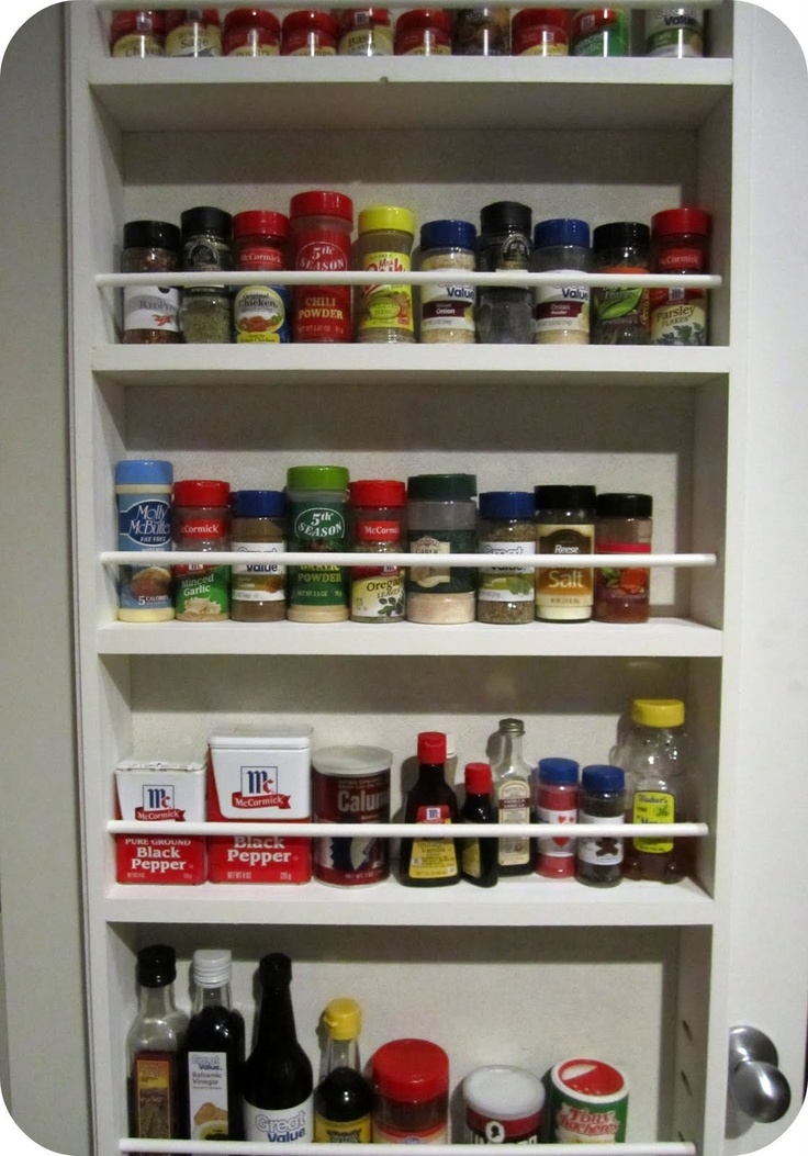 Ikea wooden spice racks home design jobs for Diy pantry door organizer