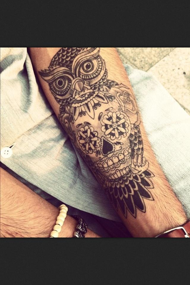 Owl tattoos on forearm for Owl forearm tattoo