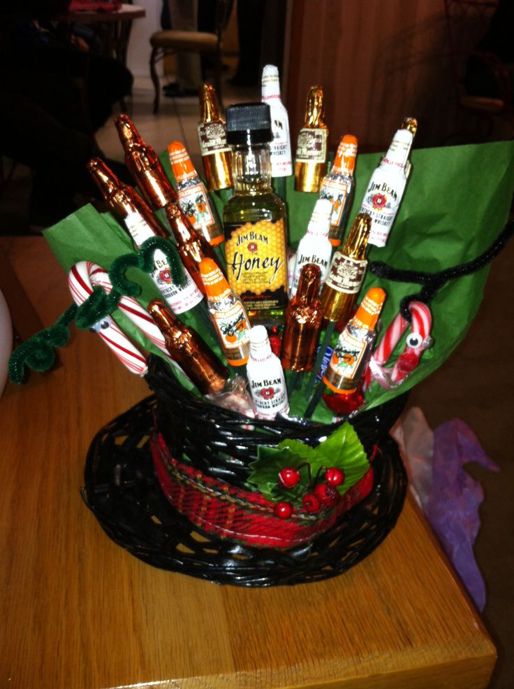 My Mini Liquor Basket Christmas Pinterest