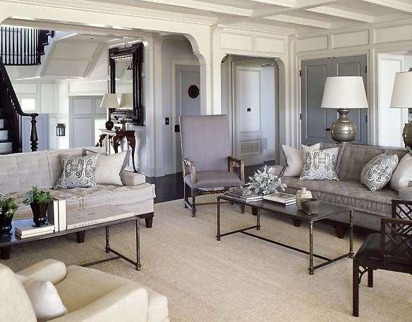 Gray And Beige Living Room For The Home Pinterest