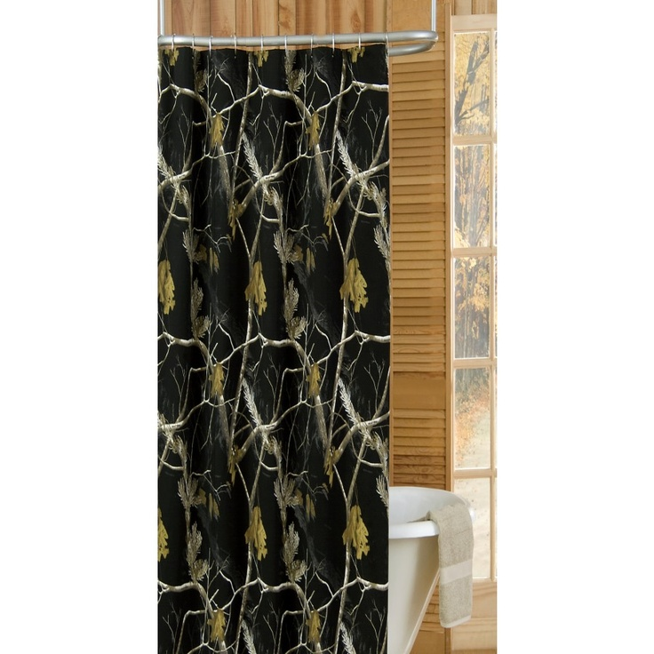 Realtree Camo Shower Curtain In Black 07174810000rt